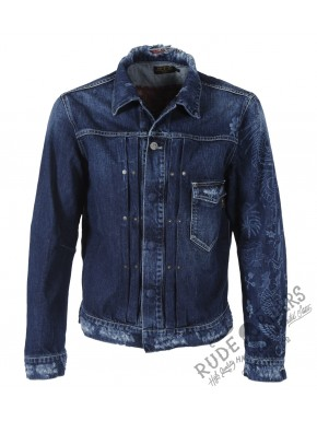 Allover Tatoo Indido Jkt Denim