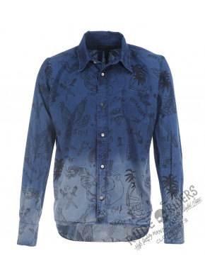 Allover Garage Tatoo Shirt Allover Indigo