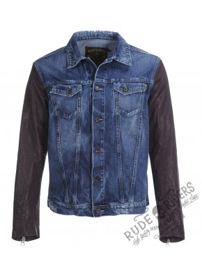 M.C Indigo Leather Jkt Denim