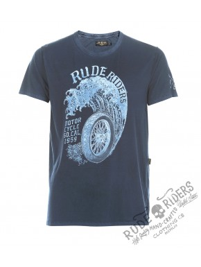 Wheels&Waves Tshirt Blue Surf
