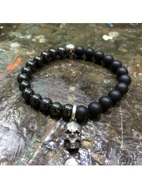 Kugelarmband Two Face Star Skull