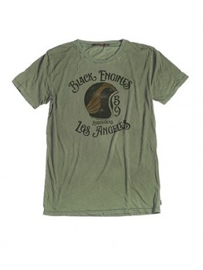 BLACK ENGINES T-SHIRT OLIVE