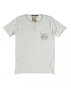 L. A. SUMFADED POCKET T-SHIRT WHITE