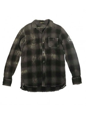 TOKIO MOTORCYCLE CHECK SHIRT OLIVE