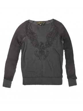 ROCK AMERICAN EAGLE SWEAT BLACK