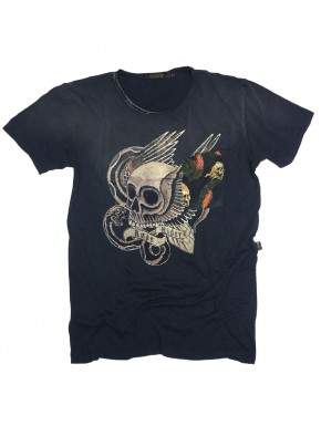 LOS SKULL T-SHIRT BLUE BLACK