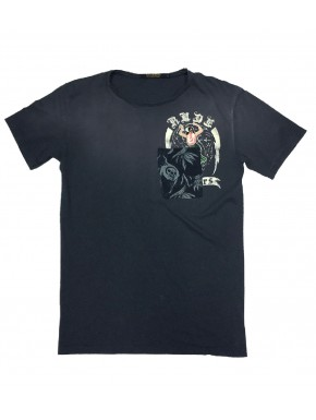 WAINE T-SHIRT BLUE BLACK