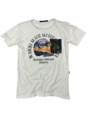 WAIKIKI BEACH T-SHIRT STAR WHITE