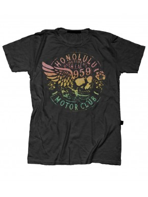 HONULULU MOTORCLUB T-SHIRT ROAD BLACK