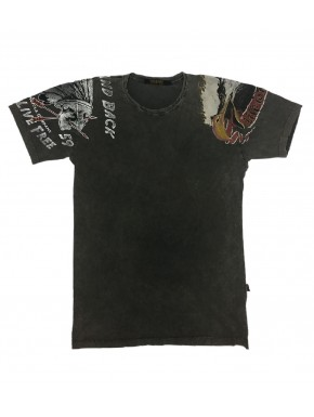 RIDE FREE T-SHIRT ROAD BLACK