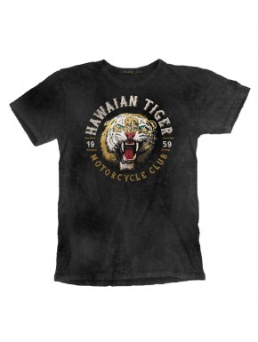 HAWAIAN TIGER T-SHIRT ROAD BLACK