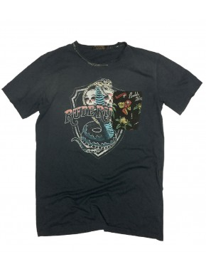 R.R. SHIELD T-SHIRT ROAD BLACK
