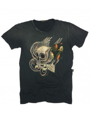 LOS SKULL T-SHIRT ROAD BLACK