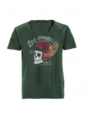 RISE HELL T-SHIRT DEEP SAGE GREEN