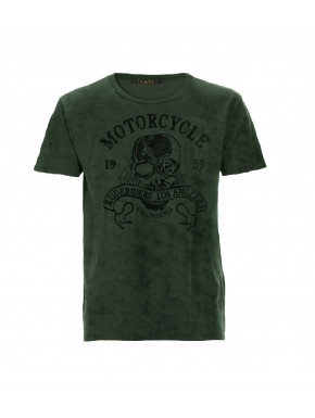 MOTORCYCLE CO. T-SHIRT DEEP SAGE GREEN