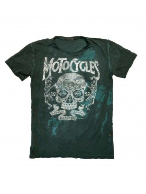 MOTORCYCLES T-SHIRT DEEP SAGE GREEN