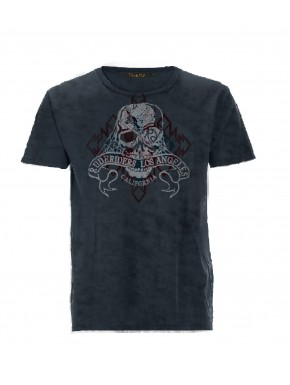 MOTORCYLE T-SHIRT BLUE BLACK