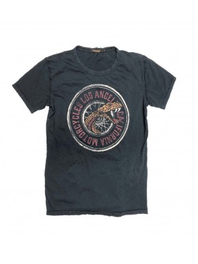 THE SNAKE WHEEL T-SHIRT BLUE BLACK