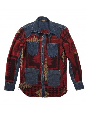 RIDER CUSTOM OVERSHIRT BLOODY RED