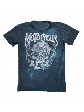 MOTORCYCLES T-SHIRT DEEP RACING INDIGO