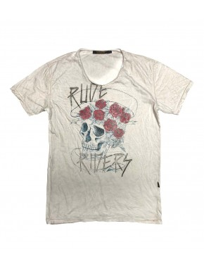 RUDE & ROSES T-SHIRT STAR WHITE