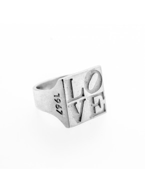 Love Siegel Ring Silber