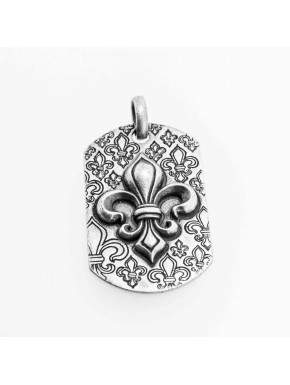 Dogtag Lily Pendant