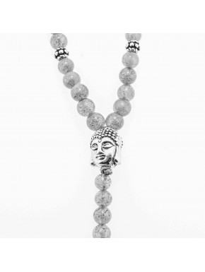 Buddha Y-Chain 4mm Grau