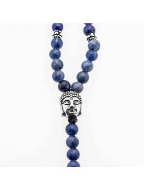 Buddha Y-Chain 4mm Blau