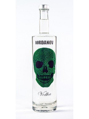 Iordanov Vodka Diamond Skull Edition Grün