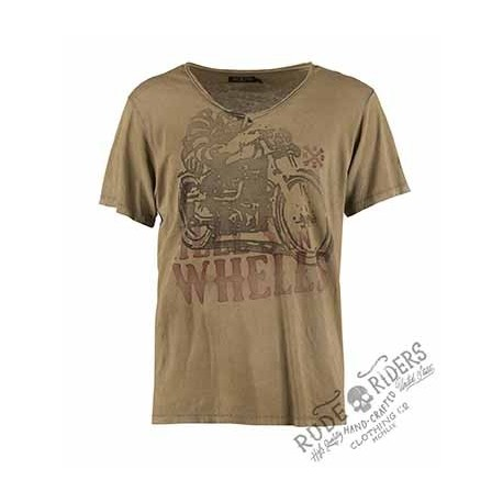 Hell´s On Wheels T-Shirt Mustard