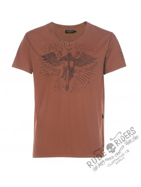 Wheels&Bike T-Shirt Gold Flame